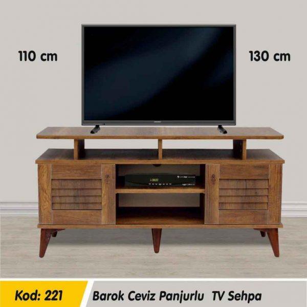 221-barok-ceviz-panjurlu-tv-sehpa