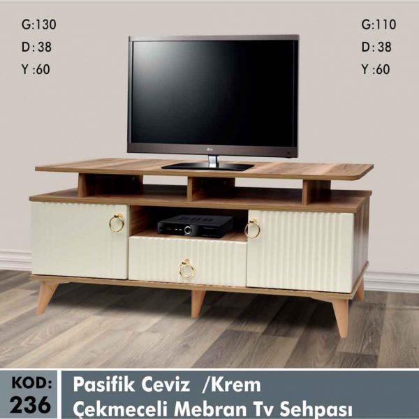 236-pasifik-ceviz-krem-cekmeceli-mebran-tv-sehpa