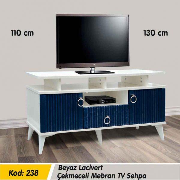 238-beyaz-lacivert-çekmeceli-mebran-tv-sehpa